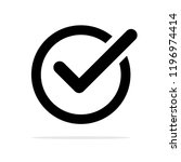 check mark icon. vector concept ... | Shutterstock .eps vector #1196974414