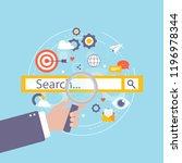 keywording  seo keywording... | Shutterstock .eps vector #1196978344
