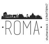 rome italy skyline silhouette... | Shutterstock .eps vector #1196978947