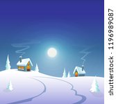 winter greeting card   winter... | Shutterstock .eps vector #1196989087