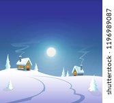 winter greeting card   winter... | Shutterstock .eps vector #1196989087