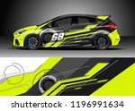 car wrap design vector. graphic ... | Shutterstock .eps vector #1196991634