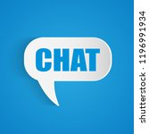 illustration of a chat bubble... | Shutterstock .eps vector #1196991934