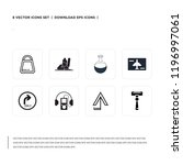 pack of 8 simple icons such as... | Shutterstock .eps vector #1196997061