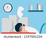 salary man 01 are working hard...   Shutterstock .eps vector #1197001234