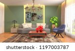 interior of the living room. 3d ... | Shutterstock . vector #1197003787