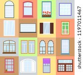 colorful windows set.... | Shutterstock .eps vector #1197011467