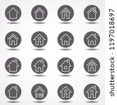 simple collection of home...   Shutterstock .eps vector #1197018697