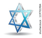3d glossy  jewish vector icon... | Shutterstock .eps vector #119701984