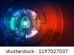 abstract security digital... | Shutterstock .eps vector #1197027037
