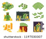 money banknote. cash bag ... | Shutterstock .eps vector #1197030307