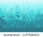 underwater seascape. ocean... | Shutterstock .eps vector #1197030421