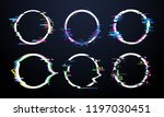 glitch circle frame. tv... | Shutterstock .eps vector #1197030451
