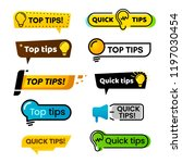 quick tips. idea suggestion ... | Shutterstock .eps vector #1197030454