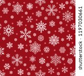 snowflakes pattern. christmas... | Shutterstock .eps vector #1197030661