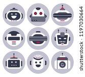 robot icon. robotic chatbot... | Shutterstock .eps vector #1197030664