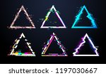 glitch triangle frame.... | Shutterstock .eps vector #1197030667