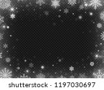 snowed border frame. christmas... | Shutterstock .eps vector #1197030697