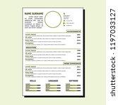 cv simple design | Shutterstock .eps vector #1197033127