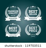 four white vector vintage... | Shutterstock .eps vector #119703511