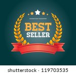 vintage vector round badge with ... | Shutterstock .eps vector #119703535