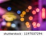 colorful  circular bokeh... | Shutterstock . vector #1197037294