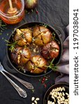 baked figs stuffed with... | Shutterstock . vector #1197038041
