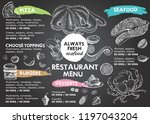 restaurant cafe menu  template... | Shutterstock .eps vector #1197043204