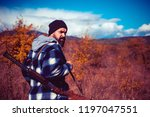 vintage hunter. hunting without ... | Shutterstock . vector #1197047551