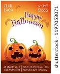 happy halloween editable poster ... | Shutterstock .eps vector #1197053071