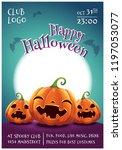 happy halloween editable poster ... | Shutterstock .eps vector #1197053077
