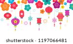 chinese new year background ... | Shutterstock .eps vector #1197066481