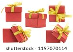 set gift box on white... | Shutterstock . vector #1197070114