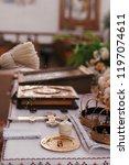 priest blessing golden wedding... | Shutterstock . vector #1197074611