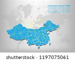 modern of china map connections ... | Shutterstock .eps vector #1197075061