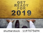 2019 year concept. top view of... | Shutterstock . vector #1197075694