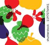 vegetable seamless pattern.... | Shutterstock .eps vector #1197076441