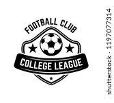 soccer  football emblems.... | Shutterstock .eps vector #1197077314