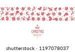 christmas greeting ornament... | Shutterstock .eps vector #1197078037