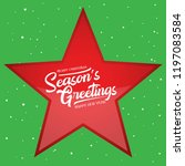 season greetings vector... | Shutterstock .eps vector #1197083584