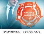 concept of circular economy... | Shutterstock . vector #1197087271