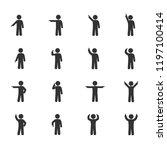 vector image of stick figures... | Shutterstock .eps vector #1197100414