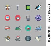 urban icon set. vector set... | Shutterstock .eps vector #1197102271