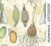 vector floral seamless pattern... | Shutterstock .eps vector #1197103324
