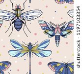 vector seamless pattern with... | Shutterstock .eps vector #1197103354