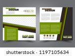 square flyer template. simple... | Shutterstock .eps vector #1197105634