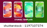 set of minimalistic stories for ... | Shutterstock .eps vector #1197107374