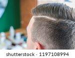young man in barbershop....   Shutterstock . vector #1197108994