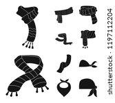 vector illustration of scarf... | Shutterstock .eps vector #1197112204
