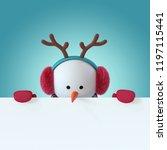3d render  christmas snowman...   Shutterstock . vector #1197115441